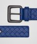 BOTTEGA VENETA COBALT BLUE INTRECCIATO BELT Belt Man rp