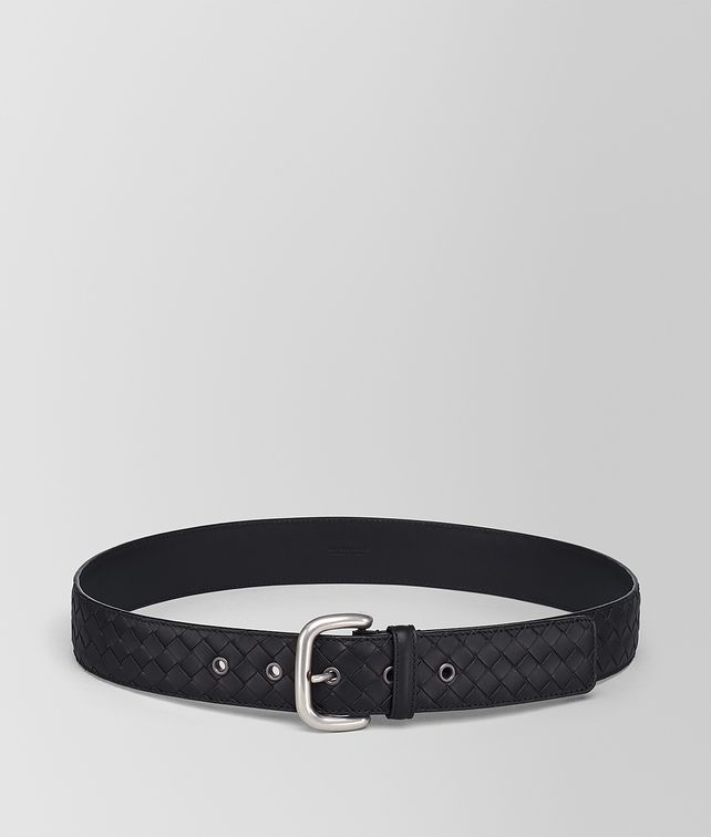 BOTTEGA VENETA NERO INTRECCIATO BELT Belt [*** pickupInStoreShippingNotGuaranteed_info ***] fp
