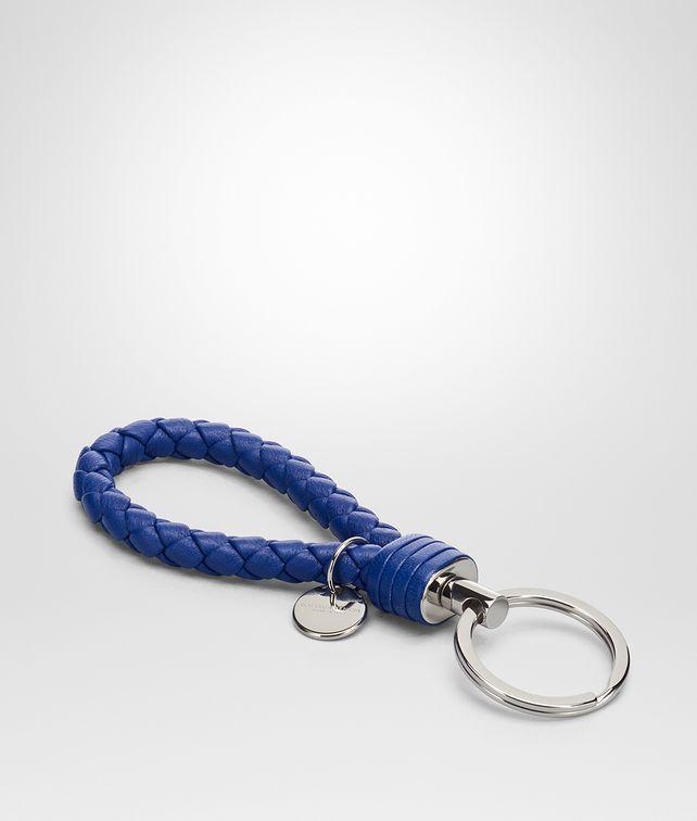 BOTTEGA VENETA COBALT INTRECCIATO NAPPA KEY RING Keyring or Bracelets E fp