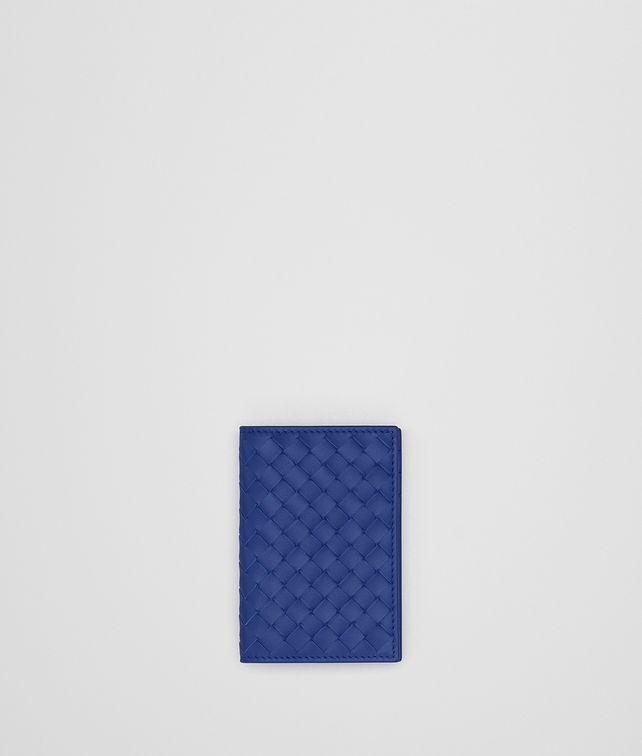 BOTTEGA VENETA COBALT BLUE INTRECCIATO CARD CASE Card Case or Coin Purse Man fp