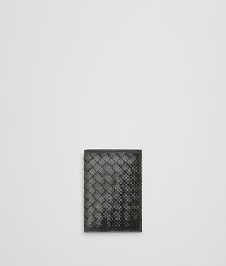 LIGHT GREY INTRECCIATO NAPPA CARD CASE