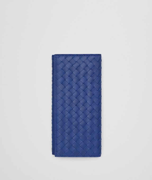 BOTTEGA VENETA INTRECCIATO CONTINENTAL PORTEMONNAIE IN COBALT BLUE Continental Portemonnaie Herren fp