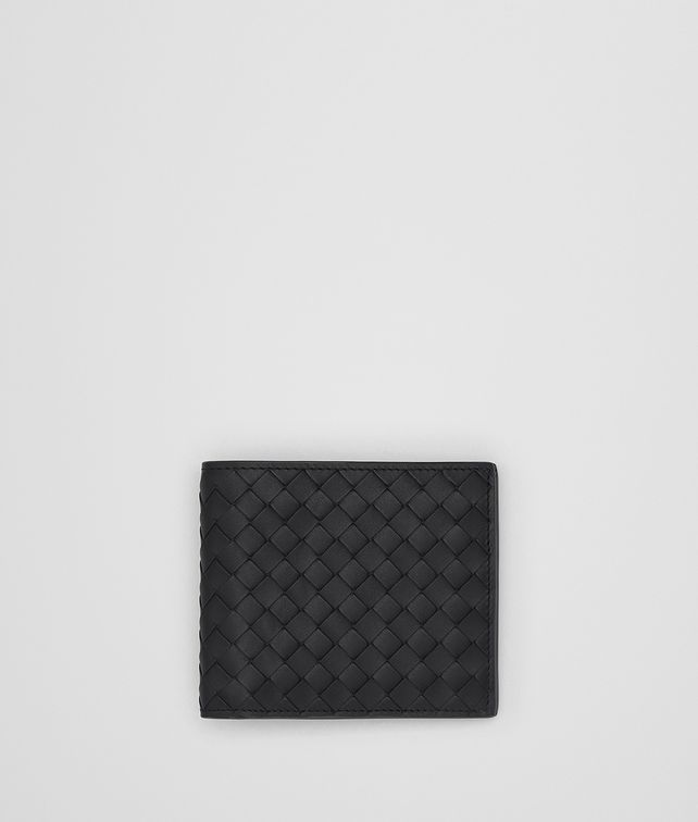 BOTTEGA VENETA NERO INTRECCIATO WALLET Small Wallet Man fp