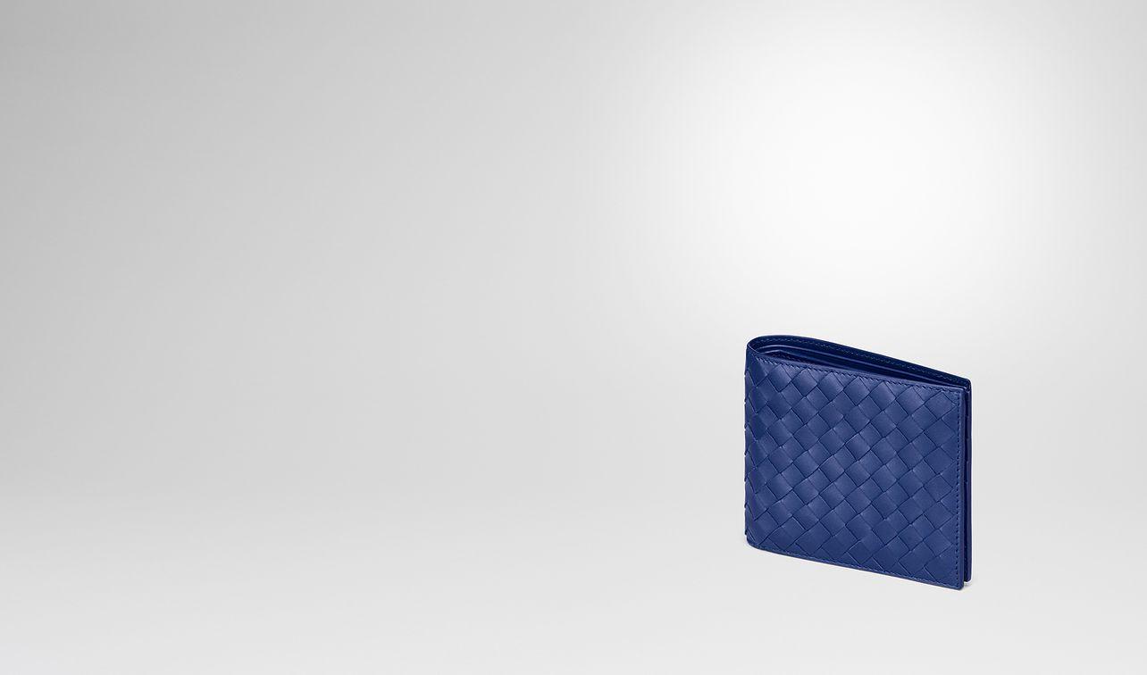 cobalt blue intrecciato wallet landing