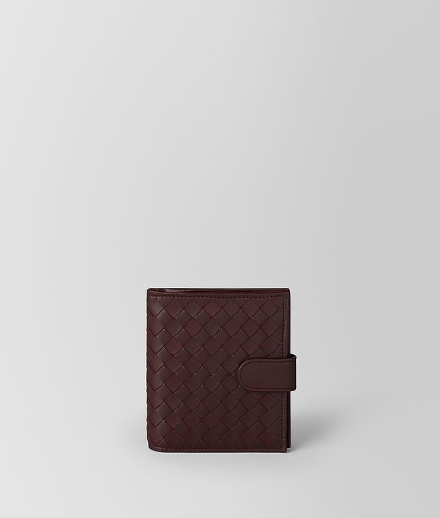 BOTTEGA VENETA DARK BAROLO INTRECCIATO NAPPA MINI WALLET Mini Wallet [*** pickupInStoreShipping_info ***] fp