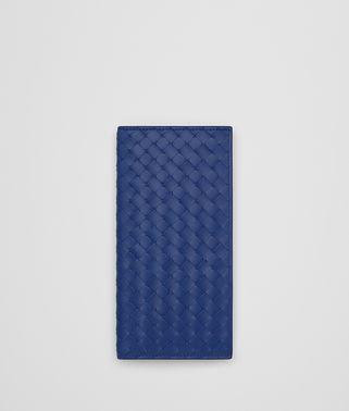 COBALT BLUE INTRECCIATO CONTINENTAL WALLET