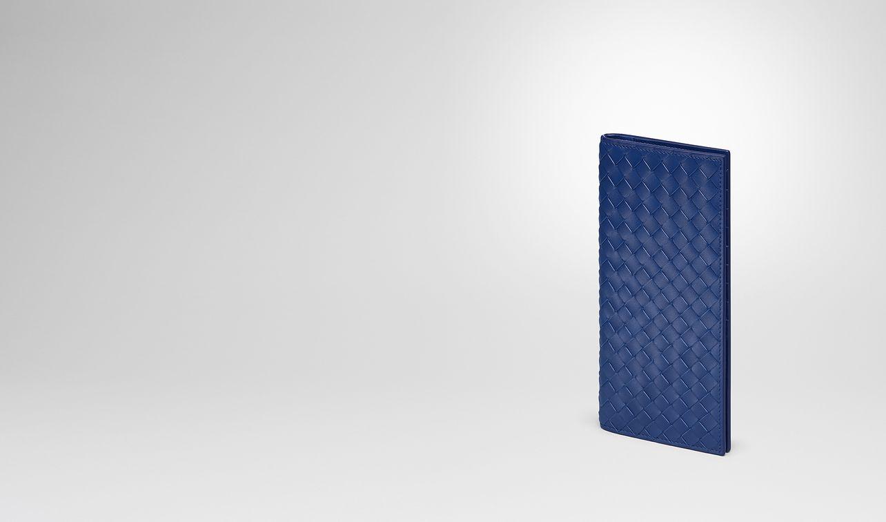 cobalt blue intrecciato continental wallet landing