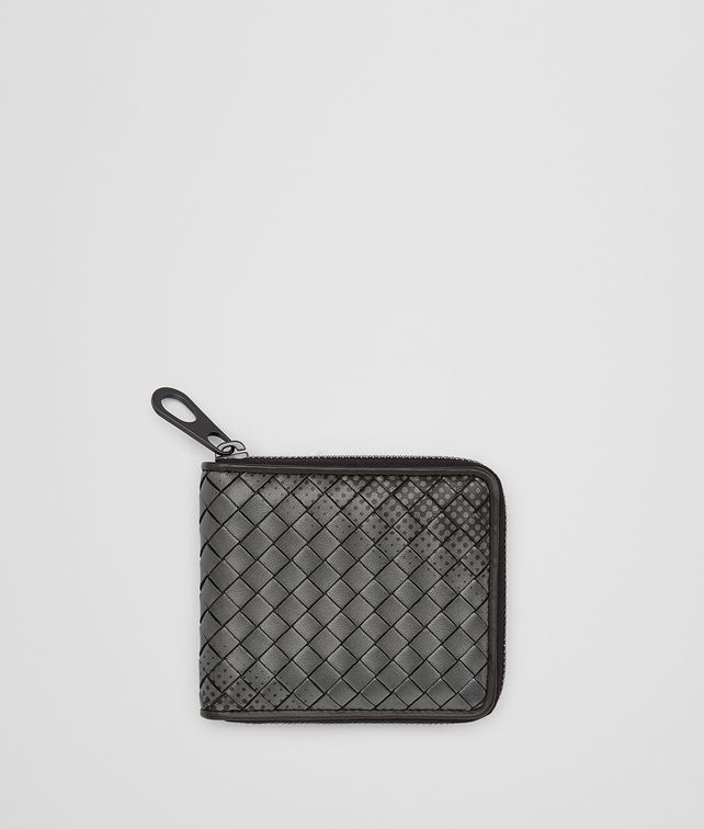 BOTTEGA VENETA NERO INTRECCIATO NAPPA ZIP-AROUND WALLET Bi-fold Wallet [*** pickupInStoreShippingNotGuaranteed_info ***] fp
