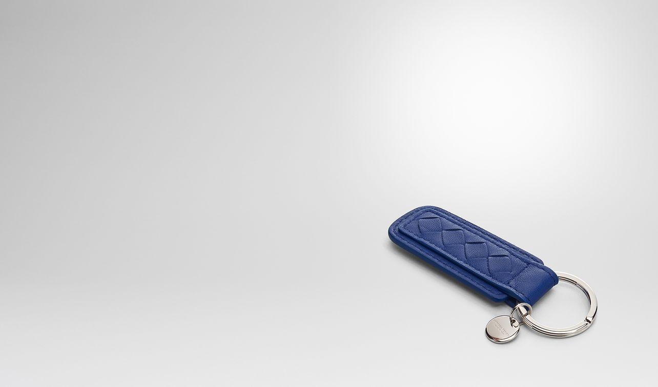 cobalt intrecciato nappa key ring landing