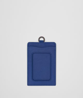 COBALT INTRECCIATO NAPPA TRAIN PASS CASE