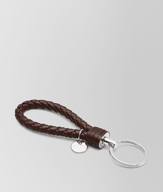 BOTTEGA VENETA DARK BAROLO INTRECCIATO NAPPA KEY RING Keyring or Bracelets E fp