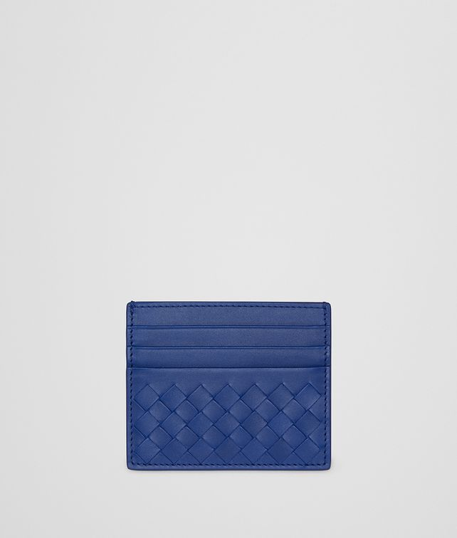 BOTTEGA VENETA COBALT INTRECCIATO NAPPA CARD CASE Card Case or Coin Purse E fp