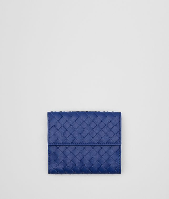 BOTTEGA VENETA COBALT INTRECCIATO NAPPA MINI WALLET Mini Wallet [*** pickupInStoreShipping_info ***] fp