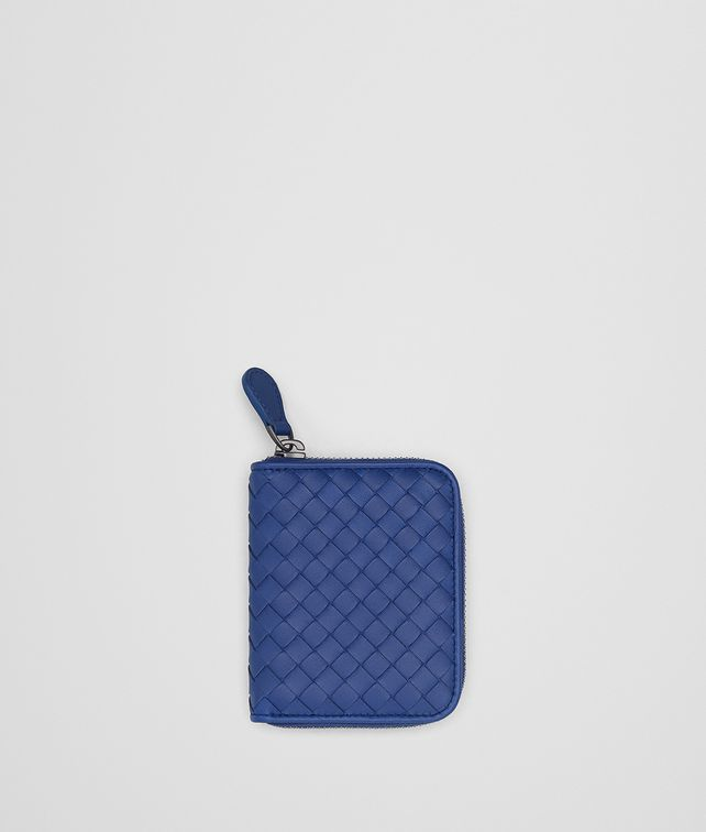 BOTTEGA VENETA COBALT INTRECCIATO NAPPA COIN PURSE Card Case [*** pickupInStoreShipping_info ***] fp