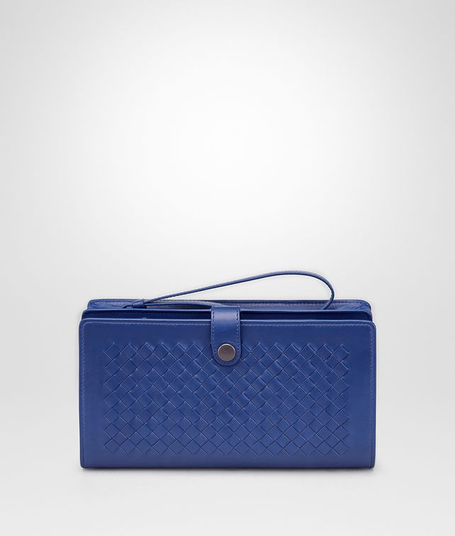 BOTTEGA VENETA COBALT BLUE INTRECCIATO CALF MULTI-FUNCTIONAL CASE Other Leather Accessory Man fp