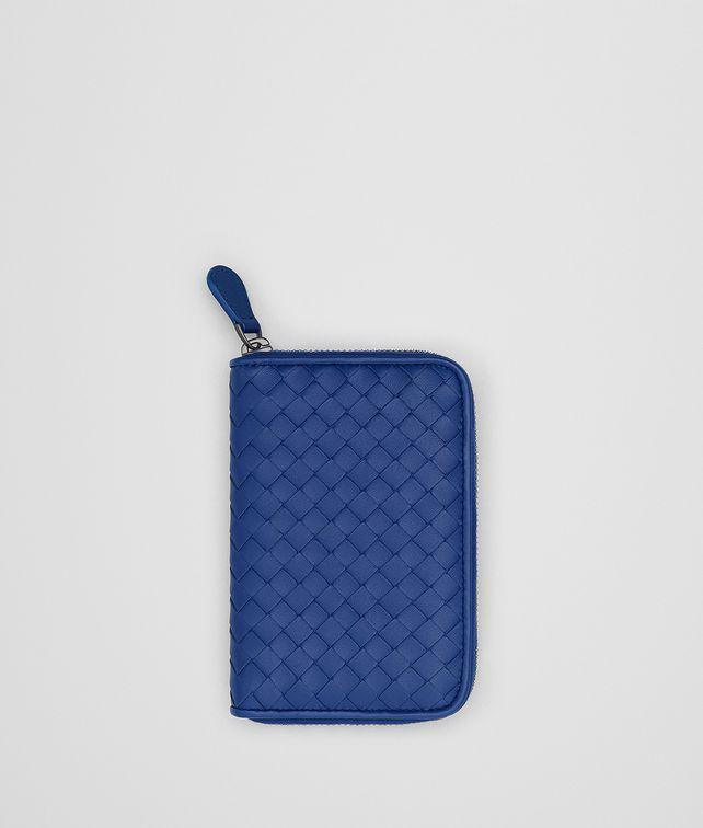 BOTTEGA VENETA COBALT INTRECCIATO NAPPA CONTINENTAL WALLET Zip Around Wallet Woman fp