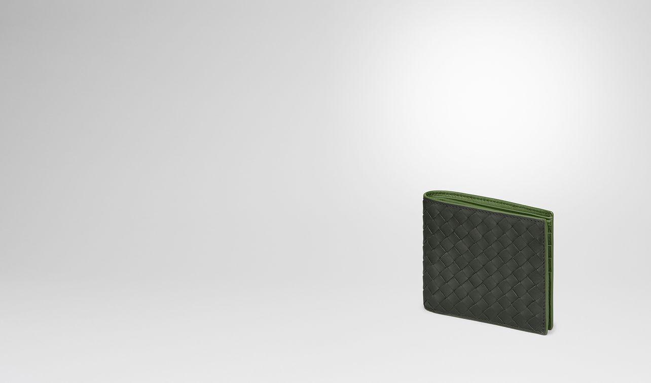 dark moss intrecciato wallet landing
