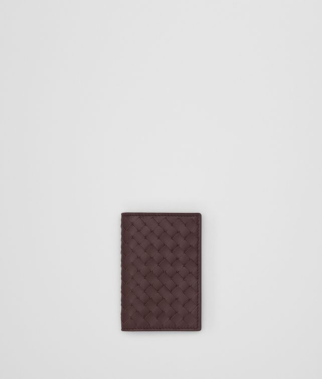 BOTTEGA VENETA DARK BAROLO INTRECCIATO CARD CASE Card Case or Coin Purse [*** pickupInStoreShippingNotGuaranteed_info ***] fp