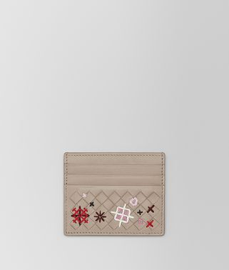 MINK INTRECCIATO MEADOW FLOWER CARD CASE