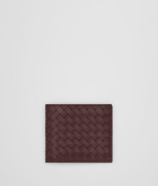 黑色酒红色INTRECCIATO编织钱包