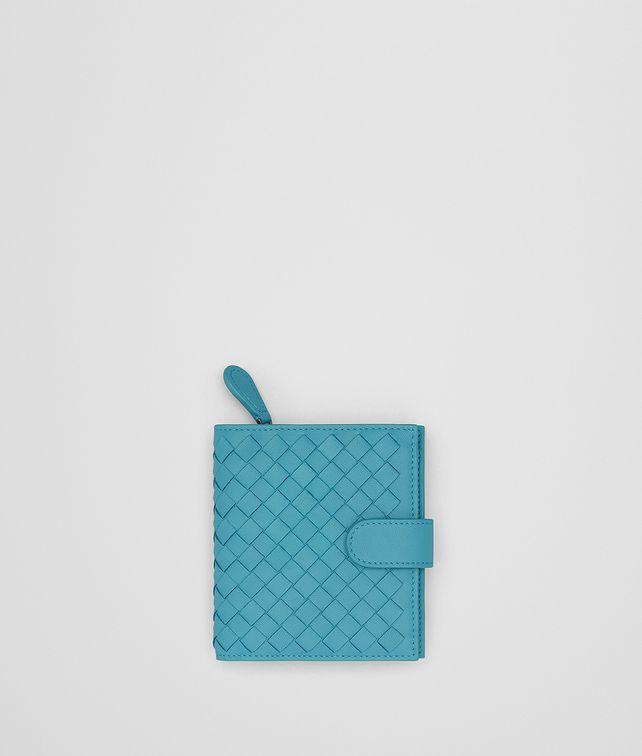 BOTTEGA VENETA AQUA INTRECCIATO NAPPA MINI WALLET Mini Wallet Woman fp