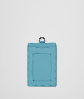 AQUA INTRECCIATO NAPPA TRAIN PASS CASE