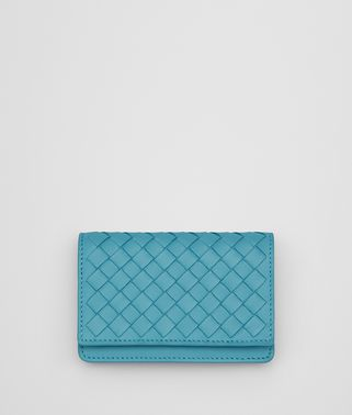 宝蓝色编织小羊皮卡片包