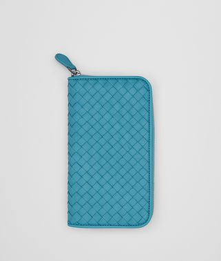 AQUA INTRECCIATO NAPPA ZIP-AROUND WALLET