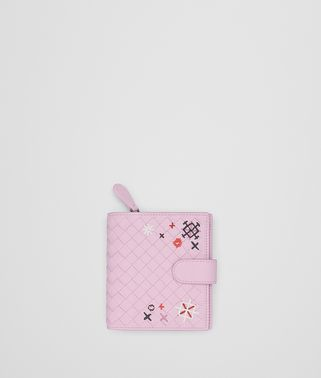 DRAGEE INTRECCIATO MEADOW FLOWER MINI WALLET