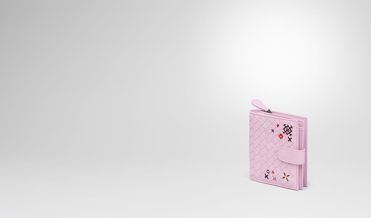 dragee intrecciato meadow flower mini wallet landing