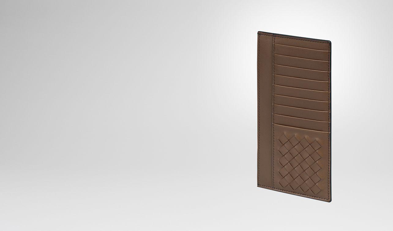 dark calvados nappa card case landing