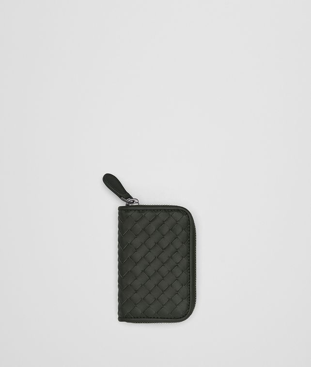 BOTTEGA VENETA DARK MOSS INTRECCIATO COIN PURSE Card Case or Coin Purse [*** pickupInStoreShippingNotGuaranteed_info ***] fp