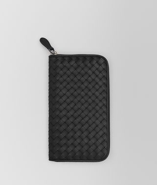 NERO INTRECCIATO ZIP-AROUND WALLET