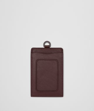 DARK BAROLO INTRECCIATO NAPPA TRAIN PASS CASE