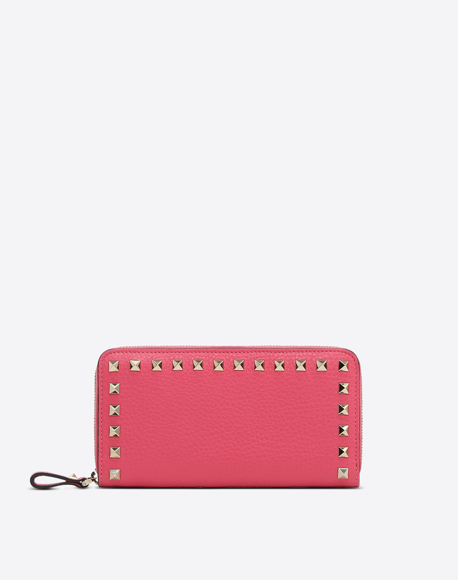 VALENTINO Textured leather Studs Solid colour Zip Internal compartments  46548008dk