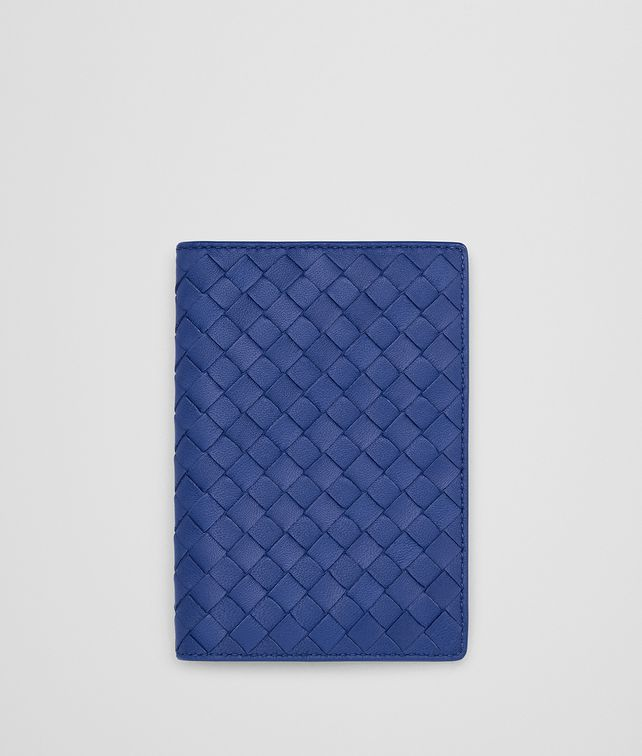 BOTTEGA VENETA COBALT INTRECCIATO NAPPA PASSPORT CASE Other Leather Accessory E fp