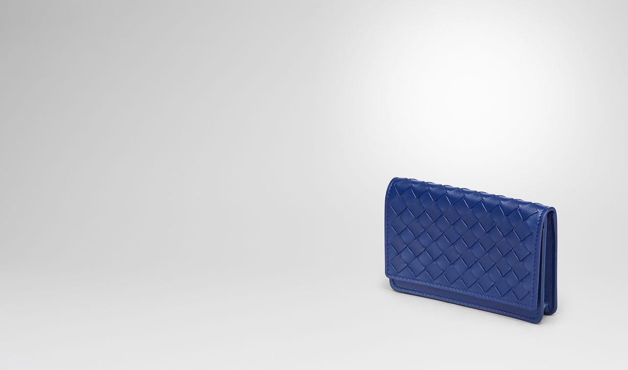 cobalt intrecciato nappa card case landing
