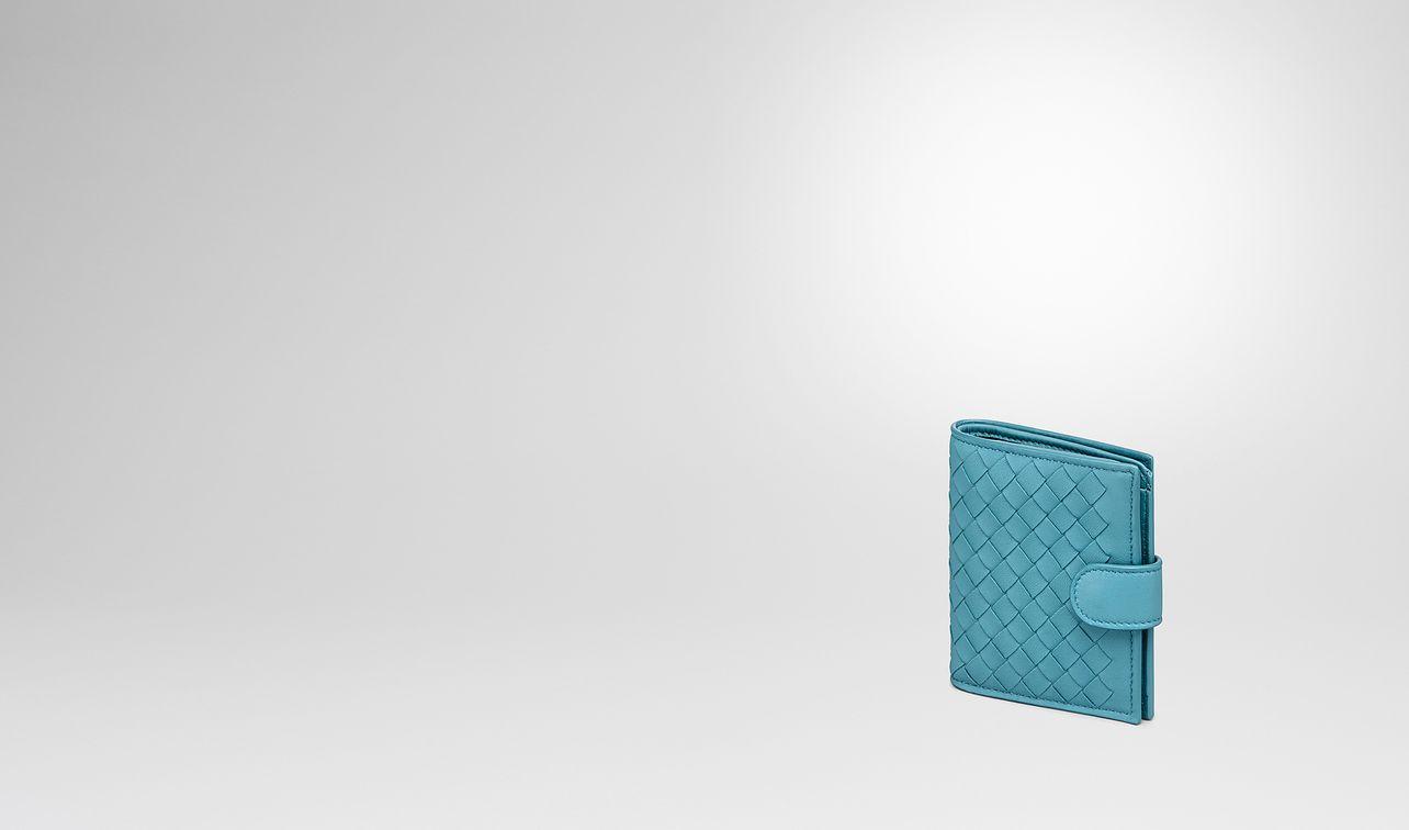 aqua intrecciato nappa mini wallet landing