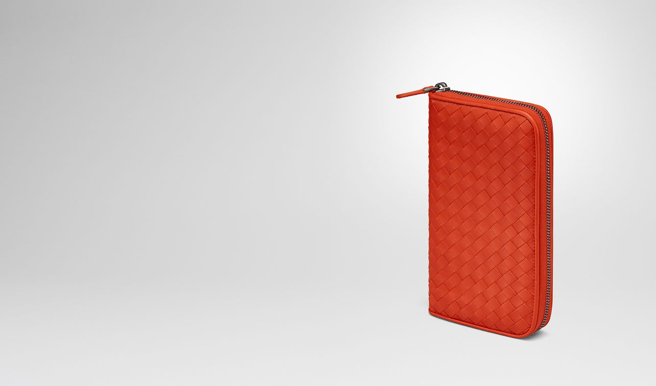 terracotta intrecciato zip-around wallet landing