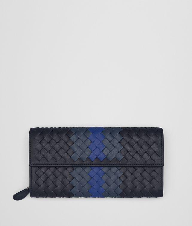 BOTTEGA VENETA TOURMALINE INTRECCIATO LAMB CLUB CONTINENTAL WALLET Continental Wallet Woman fp