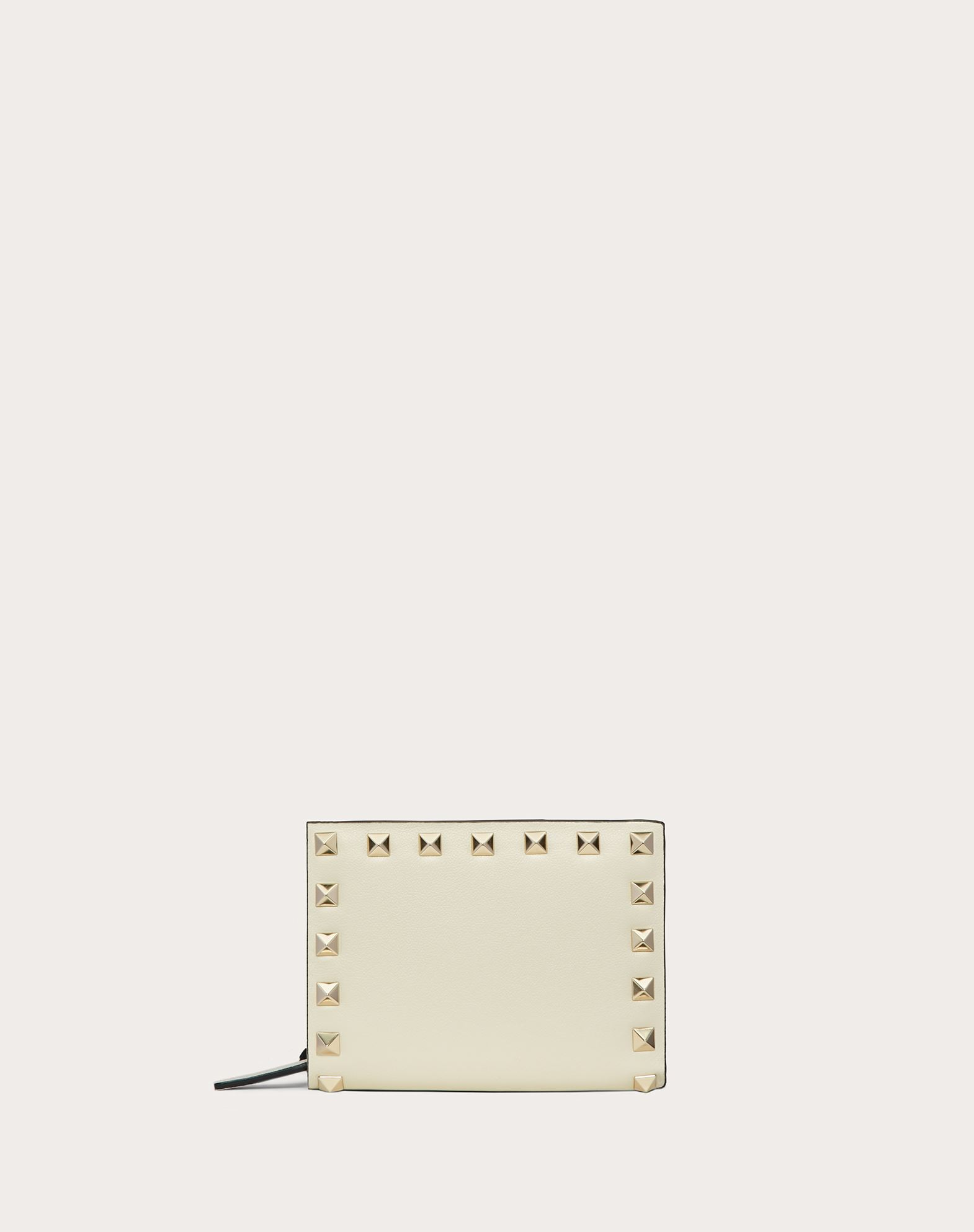 VALENTINO Studs Logo Zip Internal coin pocket Internal card slots Snap button closure  46548083fj