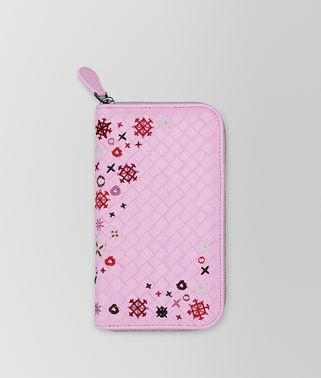 DRAGEE INTRECCIATO MEADOW FLOWER ZIP-AROUND WALLET