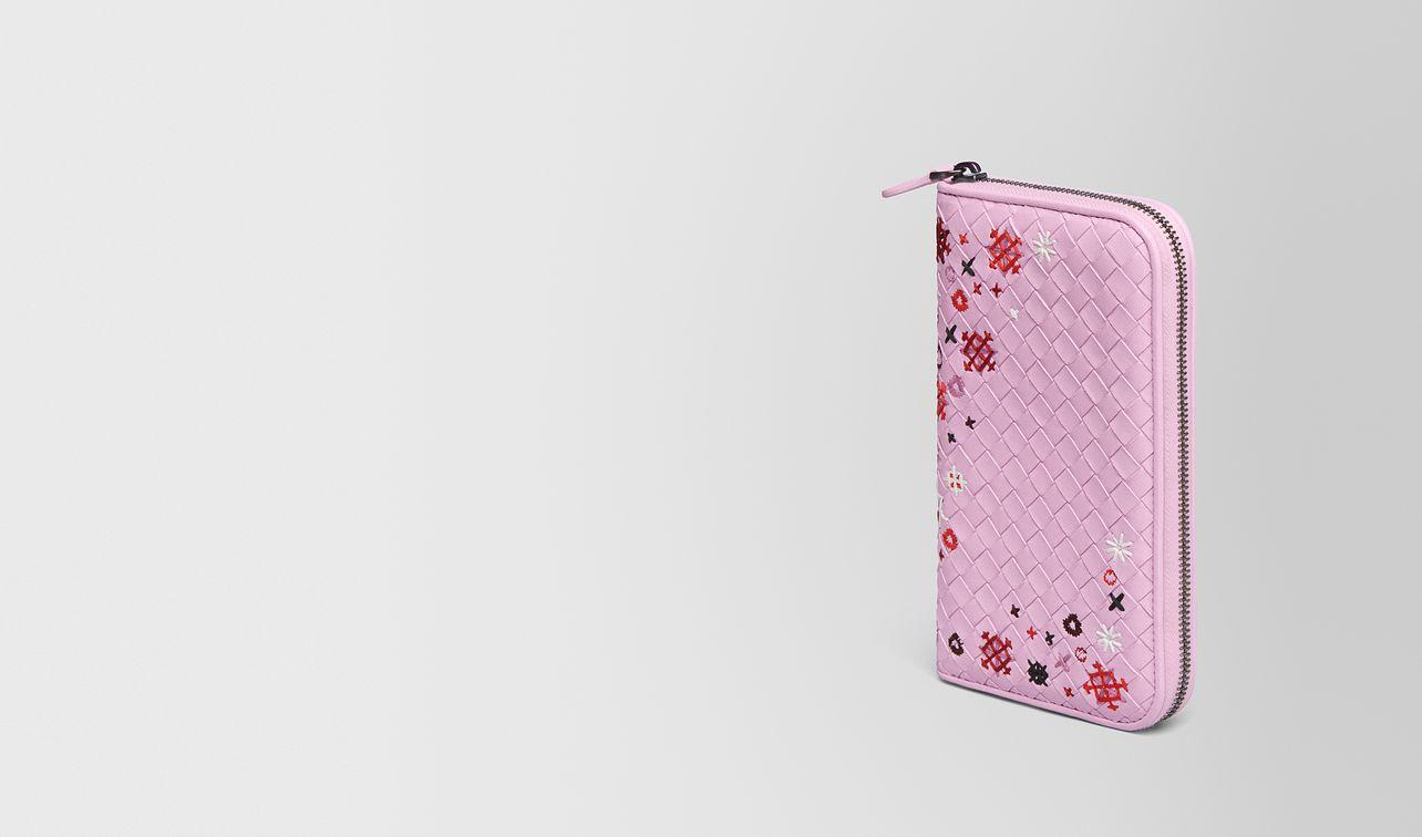dragee intrecciato meadow flower zip-around wallet landing