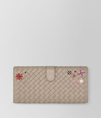 MINK INTRECCIATO MEADOW FLOWER CONTINENTAL WALLET