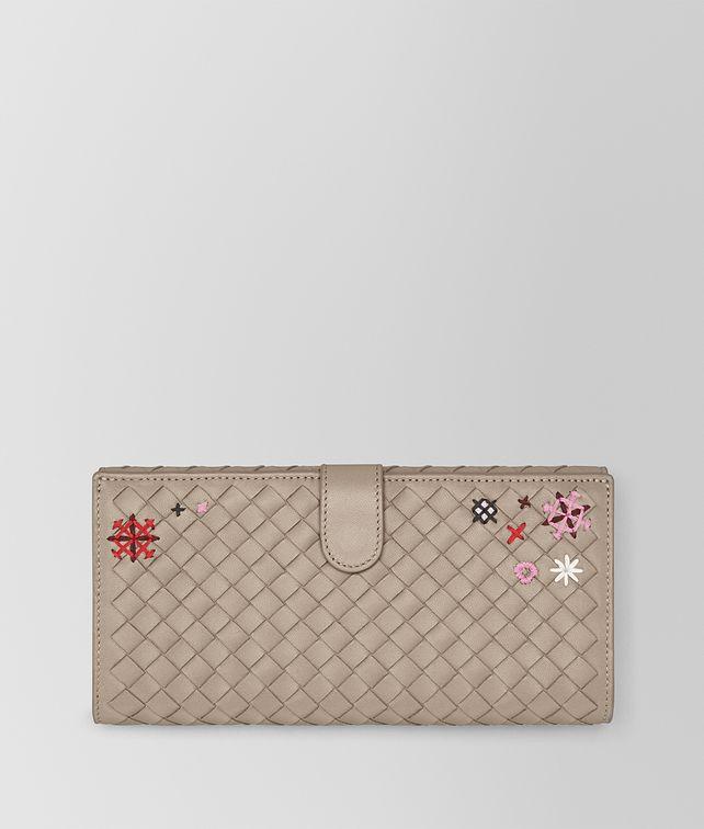 BOTTEGA VENETA MINK INTRECCIATO MEADOW FLOWER CONTINENTAL WALLET Continental Wallet Woman fp