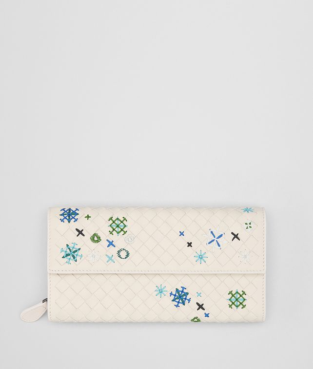 BOTTEGA VENETA MIST INTRECCIATO MEADOW FLOWER CONTINENTAL WALLET Continental Wallet Woman fp