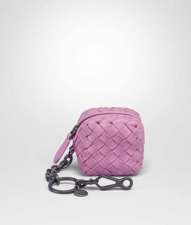 Bottega Veneta twilight Intrecciato nappa key ring - Pink & Purple SkVKH5yJzq
