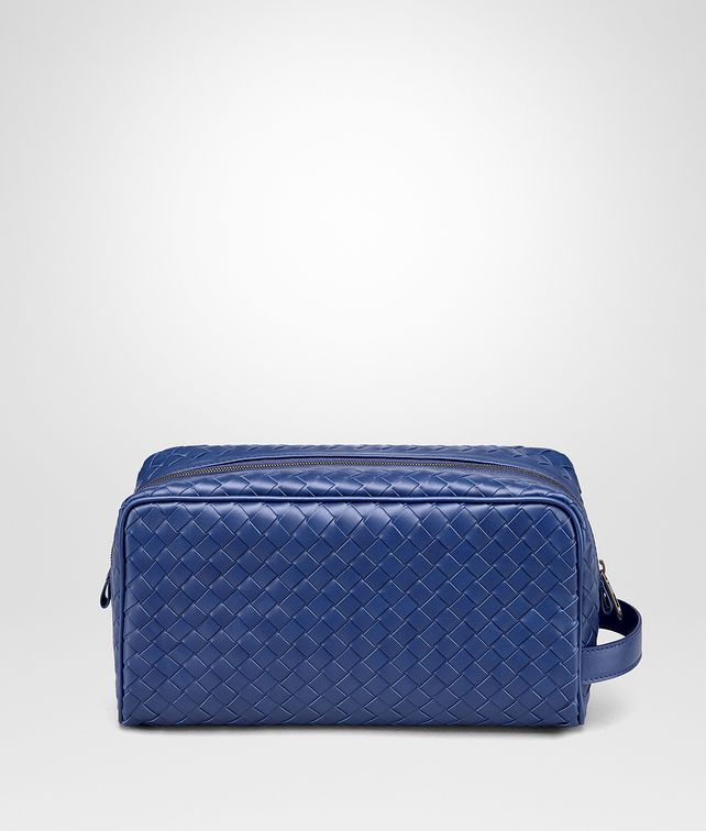 BOTTEGA VENETA COBALT BLUE INTRECCIATO BEAUTY CASE Other Leather Accessory Man fp