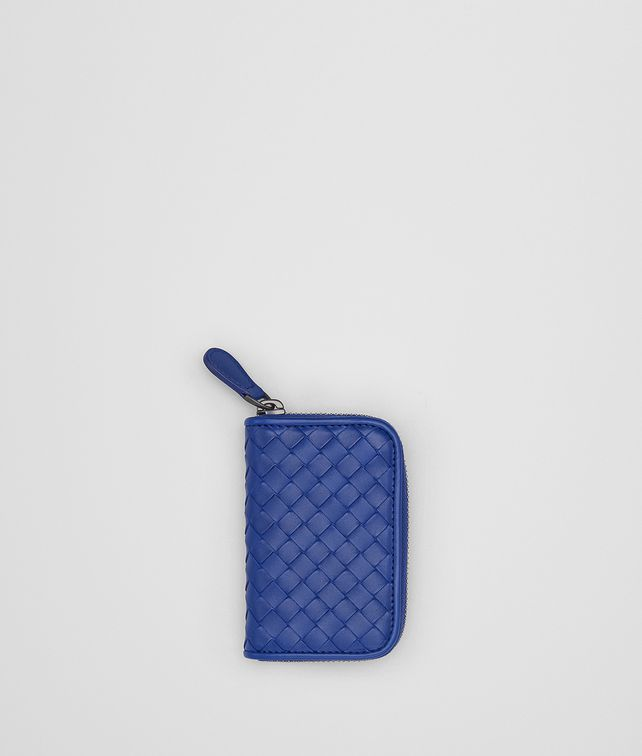 BOTTEGA VENETA COBALT BLUE INTRECCIATO COIN PURSE Card Case or Coin Purse Man fp