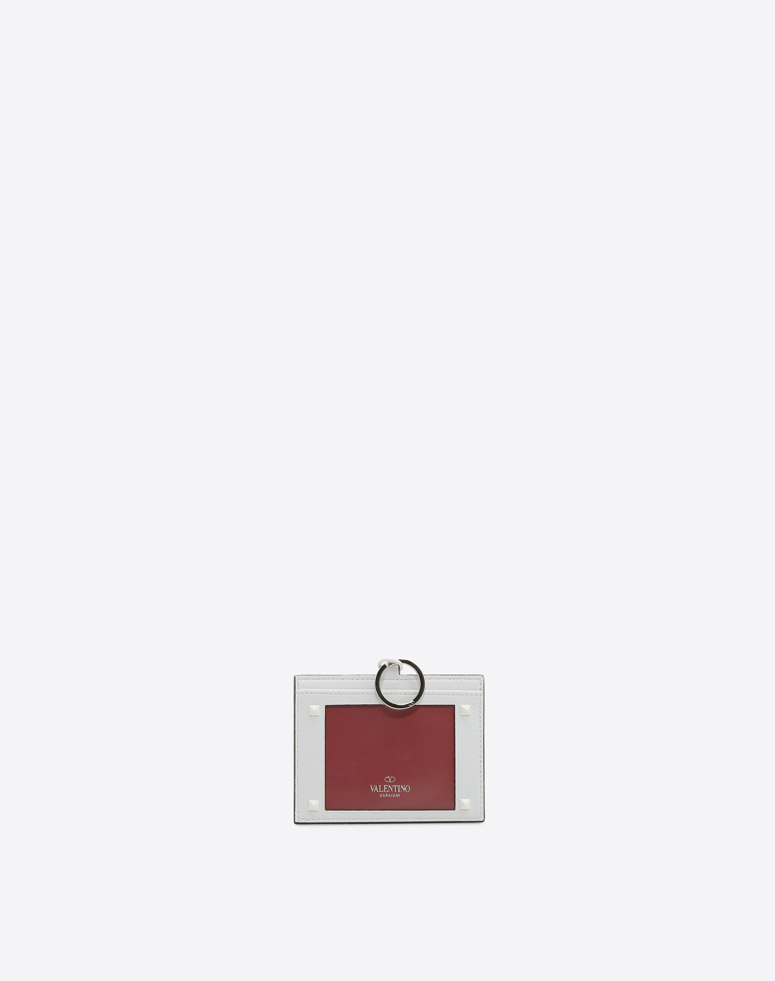 VALENTINO GARAVANI Free Rockstud Spike Badge Holder CARD CASE D r